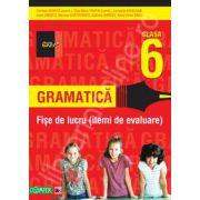 Gramatica. Fise de lucru pentru clasa a VI-a. Itemi de evaluare (Colectia foarte bine)