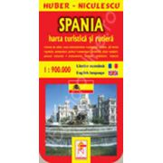 Harta Spaniei. Turistica si rutiera