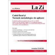 Codul fiscal si Normele metodologice de aplicare. Actualizat 25 septembrie 2011