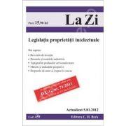 Legislatia proprietatii intelectuale. Actualizat la 5.01.2012 (Cod 459)