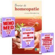 Setul complet al farmacistului. MemoMed 2012 in 3 Volume si Breviar de homeopatie. Editia a 3-a