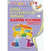 Limba si literatura romana. Caietul elevului clasa a IV-a (semestrul I+II)- manual editurii Ana (autor Penes)
