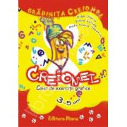 Gradinita Creionel - caiet de exercitii grafice 3-5 ani