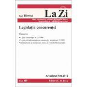 Legislatia concurentei (actualizat la 5.04.2012)