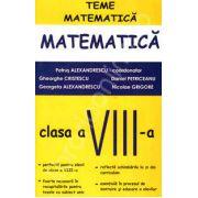 Matematica pentru clasa a VIII-a, teme de matematica (Petrus Alexandru)