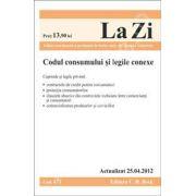 Codul consumului si legile conexe (actualizat la 25.04.2012)