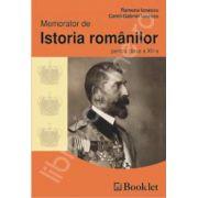 Memorator de Istoria romanilor pentru clasa a 12-a