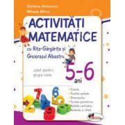 Activitati matematice cu Rita Gargarita si Greierasul Albastru. Caiet pentru grupa mare 5-6 ani