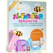 Alfabetar magnetic (Cu litere si silabe, pentru invatarea citit-scrisului, pe baza metodei fonetice, analitico-sintetice)
