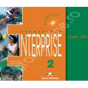 Curs de limba engleza. Enterprise 2 Elementary. Class audio CDs (Set 3 CD)