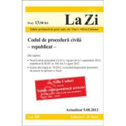 Codul de procedura civila (republicat) - actualizat 5 august 2012
