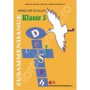 Limba germana materna, pentru clasa a V-a ( ZUSAMMENHANGE Sprach und Lessebuch )