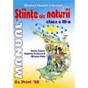 Stiinte ale naturii, manual pentru clasa a III-a (Sorina Cuzum)