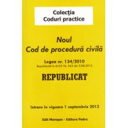 Noul Cod de procedura civila 2012. Intrare in vigoare 1 septembrie 2012