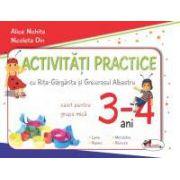 Activitati practice cu Rita-Gargarita si Greierasul Albastru. Caiet pentru grupa mica 3-4 ani