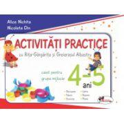 Activitati practice cu Rita-Gargarita si Greierasul Albastru. Caiet pentru grupa mijlocie 4-5 ani