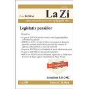 Legislatia pensiilor (Actualizat la 5.09.2012 )