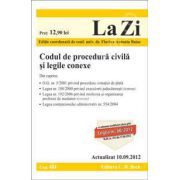 Codul de procedura civila si legile conexe (actualizata la data de 10 septembrie 2012)