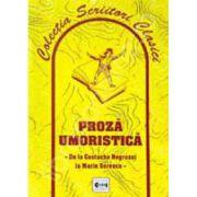 Proza umoristica de la Costache Negruzzi la Marin Sorescu