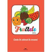 Bloc de colorat in versuri. Fructele