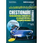 Chestionare auto 2013, categoria B. Contine CD, interactiv (Contine si modificarile in vigoare din 19. 01. 2013)