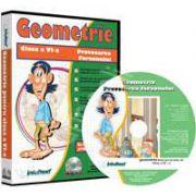 CD, interactiv. Geometrie. Intre joc si nota 10. Matematica pentru clasa a VI-a, Volumul 1