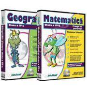 CD, interactiv. Pachet Geografie si Matematica pentru clasa a IV-a