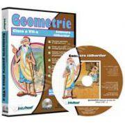 CD, interactiv. Geometrie (Comoara talharilor). Intre joc si nota 10. Matematica pentru clasa a VII-a, Volumul 4