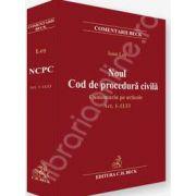 Noul Cod de procedura civila. Comentariu pe articole