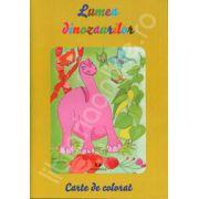 Lumea Dinozaurilor (Carte de colorat)