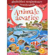 Abtibilduri stralucitoare reutilizabile - Animale acvatice (+4 ani)