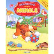 Prima mea carte despre Animale (Cu 7+1 tablouri de completat!). +3 ani