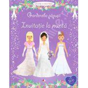 Garderoba papusii: Invitatie la nunta (Activitati cu autocolante, varsta 3+)