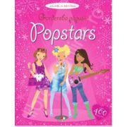 Garderoba papusii: Popstars (Activitati cu autocolante, varsta 3+)