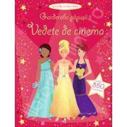 Garderoba papusii: Vedete de cinema (Activitati cu autocolante, varsta 3+)