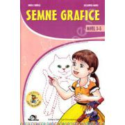 Semne grafice nivel 3-5 ani (Colectia Leo te invata)