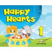 Curs pentru limba engleza Happy Hearts 1 Pupils Pack