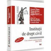 Institutii de drept civil - Curs selectiv pentru licenta 2009/2010