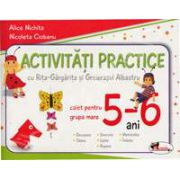 Activitati practice cu Rita-Gargarita si Greierasul Albastru. Caiet pentru grupa mare 5-6 ani