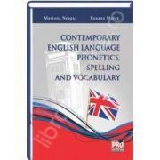 Contemporary english language phonetics, spelling and vocabulary