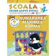 Numararea, marimea, forma. Activitati pentru copiii de la 4 la 5 ani - carte cu jocuri