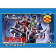 Supereroii. Planse de colorat (contine 15 autocolante)