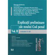 Explicatii preliminare ale noului Cod penal. Volumul. II - Articolele 53-187
