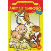Prima mea carte de colorat Animale domestice. 3-4 ani