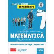 Mate 2000 pentru clasa a VII-a. Partea a II-a, CONSOLIDARE. Matematica - Algebra, geometrie. Editia a II-a revizuita