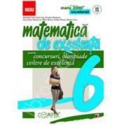 Matematica de excelenta (Mate 2000). Pentru concursuri, olimpiade si centre de excelenta clasa a VI-a
