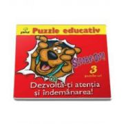 Scooby-Doo - Dezvolta-ti atentia si indemanarea (Puzzle Educativ)