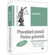 George Coca, Procedura penala. Partea generala. Teste-grila, schite, scheme