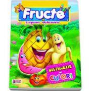Carte de colorat. Fructe si Legume delicioase. Distractie in culori