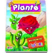 Carte de colorat. Plante si flori frumoase. Distractie in culori